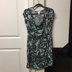 Teal and grey Maternity dress